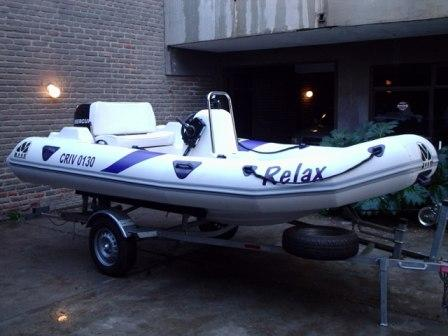 MOON 440 T ribs rigid inflatable boats. Semirrigida neumatica inflable TRAILER.