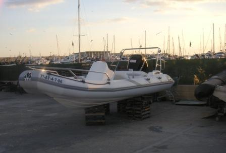 MOON 560 RIB ribs rigid inflatable boats. Spain. Semirrigidas neumaticas inflables Espana