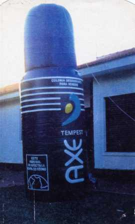 MOON inflatable buoys posters advertising via public advertisements campaigns, balls, cilynders,  donuts, containers, cones, archs, cans , bottles, etc